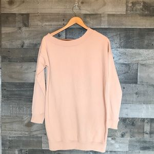 Missguided Tan Beige Sweatshirt Dress Tunic